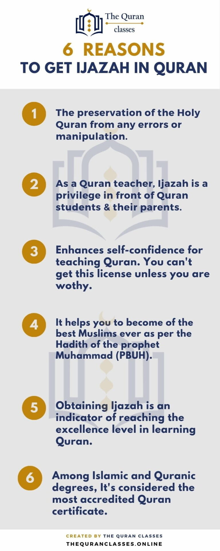 6 Reasons to Get Ijazah (infographic) - The Quran Classes